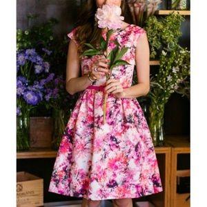 Eliza J Floral Flare Dress